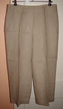 Talbots Lightweight Beige Linen Heritage Cropped/Capri Pants (6) Nwt $89.50 - $39.10