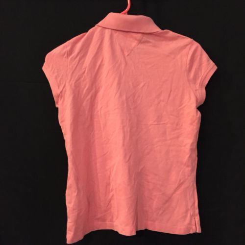 Tommy Hilfiger Pink Short Sleeve Cotton Polo Shirt Youth Girls XL NWT New  image 6