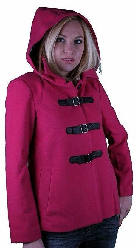 Iron Fist Heads Up Women's Pink PeaCoat NWT