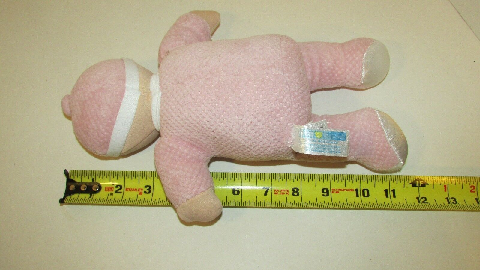Kids Preferred doll baby soft plush pink thermal satin trim hat blonde hair image 4