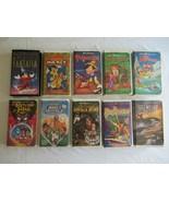 Lot of 10 8x Walt Disney VHS Movies  Fantasia Angels & Pagemaster & Free... - $14.99