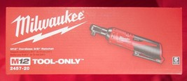 Milwaukee M12 12V 2457-20 3/8 Ratchet 35 FT/LB 250 Rpm, Tool Only - New In Box! - $109.95