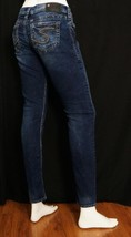 Silver Tuesday Skinny Jeans Low Rise Dark Wash Whisking Bold Stitch sz 2... - $20.58