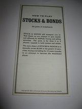 1964 Stocks & Bonds 3M Bookshelf Board Game Piece: Instruction Booklet - $3.00