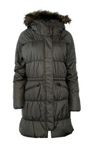 Nwt Columbia M Md Sparks Lake Long Insulated Women's Jacket Fur Hood Grey $220 - $172.96