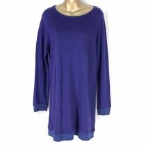Sundry Anthropologie Raglan Tunic Dress LS Sapphire Womens Size 1 NWT USA - $76.00