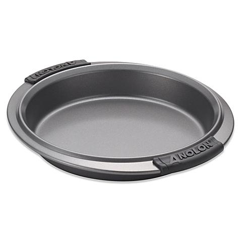 Anolon Advanced Bakeware 9-Inch Round Cake Pan 54707 Gray