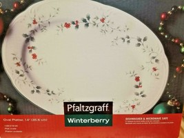"""PFALTZGRAFF Winterberry Holidays 14"""" Oval Platter #109-016-00 Made in USA - $12.38"""