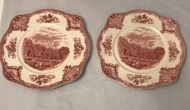 "Vintage Johnson Brothers Old Britian Castles Belvoir Castle Pink 7 "" Bowl - $14.85"