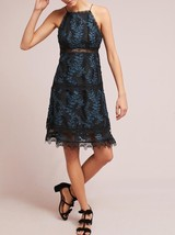 Anthropologie ML Monique Lhuillier Embroidered Silk Dress $495 Sz 8 - NWT - $160.37