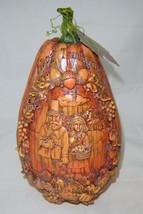 """10.5"""" Thanksgiving Pumpkin Garden Table Decor Polystone NEW"""