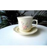 Set of 4 Pfaltzgraff Tea Rose Pattern Coffee Cup and Saucer Sets - $23.76