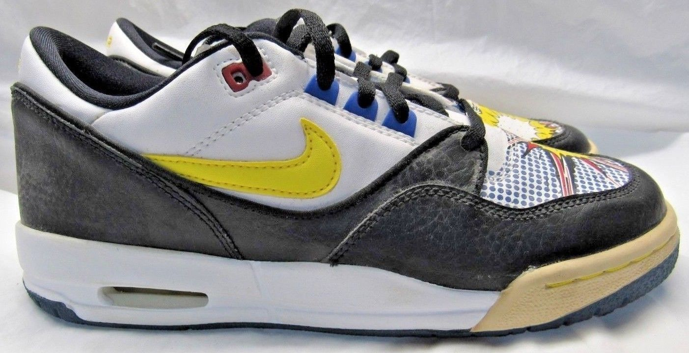 new styles 1381a b1920 NIKE 316684-172 Air Assault Low (GS) White Zest Black Royal Sneakers Size