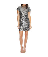 $159  Vince Camuto Short Sleeve All Over Sequin Dress Chrome 4 - $113.74