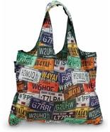 Samsonite Foldable Shopper Tote License Plate Eco Reusable Bag NEW - $19.80