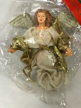 Vintage Kurt Adler Flying Angel WHITE Christmas Ornament NOS Holiday Trim - $9.89