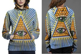 Hoodie Zipper womens The All Seeing Eye - $46.70+