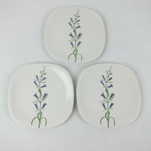 Block Langenthal Switzerland Henry Evans Floral Purple Penstemon Plates ... - $69.99