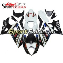 Injection Body Frames for Suzuki 2007 2008 GSXR1000 Fairings White Black Cowling - $441.31