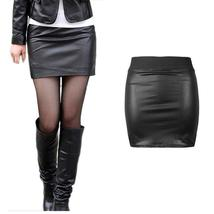 Fashion Skirts Ladies Womens Leather Skirt High Waist Slim Party Pencil Skirt