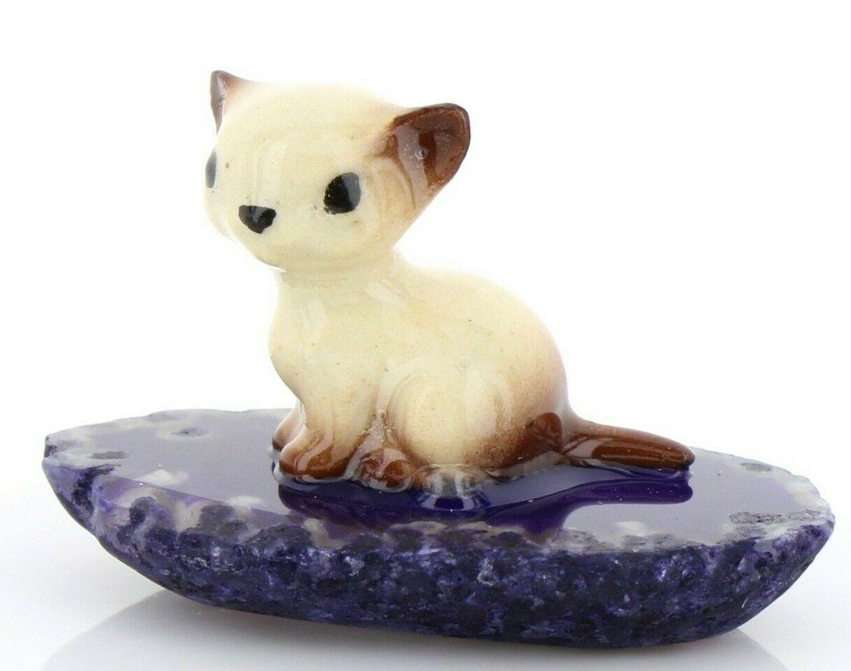 Hagen Reanker Miniature Cat Siamese Kitten Sitting on Base Stepping Stones #2734