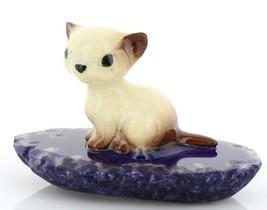 Hagen Reanker Miniature Cat Siamese Kitten Sitting on Base Stepping Stones #2734 image 1