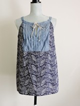 Tommy Hilfiger Blouse Top Sleeveless Summer Navy Blue White July Fash Large NWT - $25.49