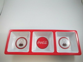 Coca-Cola 3-Section Snack Dip Tray Serving Piece Melamine  - $5.45