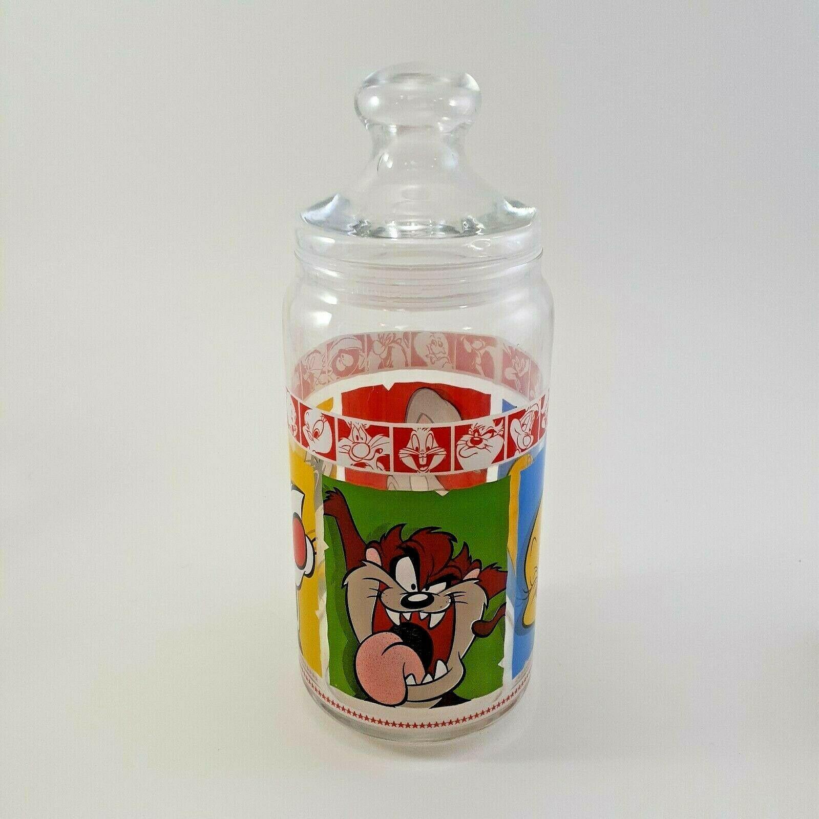 1999 Warner Brothers Looney Tunes Merrie Medleys Glass Cookie Jar