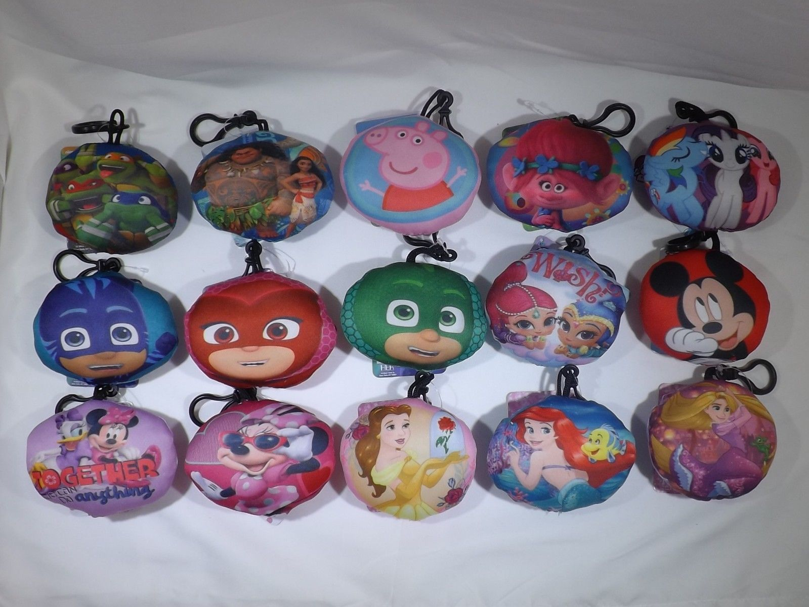 Belt Bag Clip Squish Keychain - New - Assorted Characters