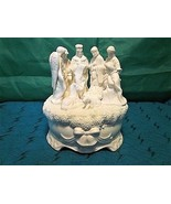 Christmas Nativity Porcelain Music Box from Cracker Barrel - Plays Silen... - $14.95