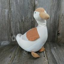 "Vintage Goose Plush Duck Stuffed Animal Russ Berrie Home Decor 16"" Orang... - $66.32"