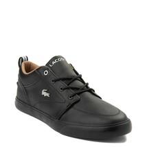 NEW Mens Lacoste Bayliss Vulc Athletic Shoe Black Mono Leather - $129.99