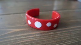 Vintage Red and White Poke a dot Cuff Bracelet - $11.87