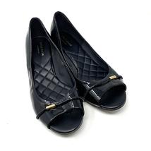 Cole Haan Black Patent Wedge Open Toe Heels Size 8.5 - $37.05