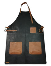 100% Genuine Leather Apron Bib Barista Baker Bartender BBQ Chef Barber U... - $88.20