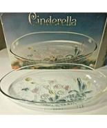 Cinderella Savoir Vivre Crystal Tulip Deep Oval Platter Original Walther... - $57.39