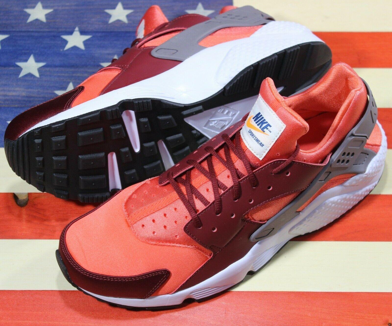 Nike Air Huarache Run Running Shoes Team Red Coral White [318429-054] Men's 11.5 image 7