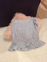 Blue Striped Wrap Skirt Wonderly Belk Adjustable Waist Junior Fits S M image 3