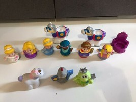 Disney Princess Fisher Price Little People Castle Knight frog Horse firgures lot - $27.67