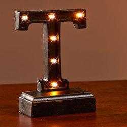 "Lighted Monogram ""T"" Plaques"