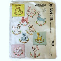 Vintage 1959  McCalls Transfer Pattern 2340 Baby Animal Motifs For Embro... - $10.88