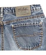 Silver Dallas Distressed Medium Wash Flare Jeans Womens Tag 29 Actual 28x31 - $19.70