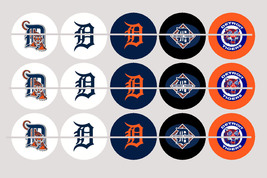 Printed DETROIT TIGERS inspired 1 inch images for bottlecaps, craft - $2.00
