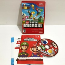 New Super Mario Bros. Wii (Nintendo Wii, 2009) Complete w/ Manual Tested... - $34.95