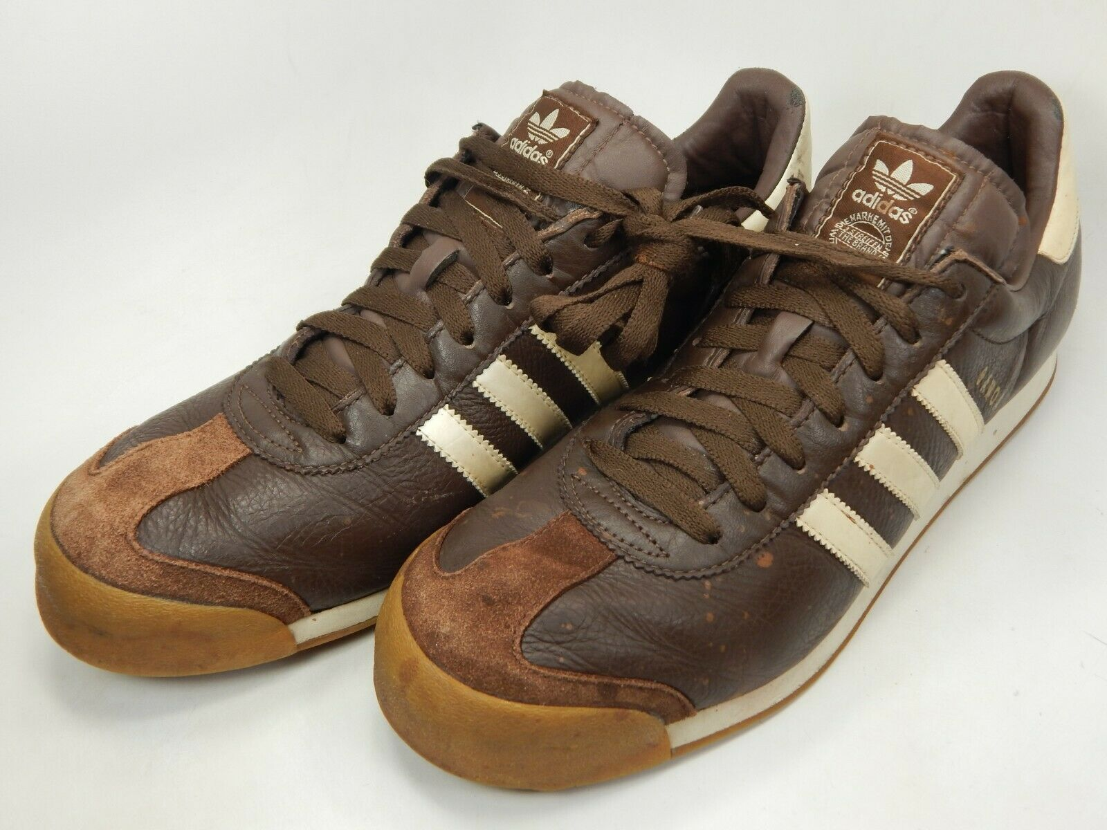Adidas Samoa Größe US 12 M (D) Eu 46 2/3 Herren Freizeit Turnschuhe Braune image 3