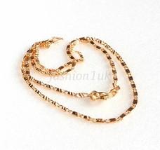 Women Men Unisex New 18K Gold Plated Pattern 40cm Short Small Chain Neck... - $12.28