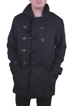 Diamond Supply Co. Long Melton Wool diamond Duffle duffle Navy Coat NWT image 1