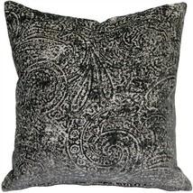 Pillow Decor - Visconti Gray Chenille Throw Pillow 17x17 (DC1-0009-02-17) - $59.95