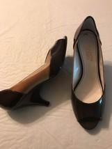 Franco Sarto Women's Shoes Crash Brown Leather Peep Toe Heels Size 7.5 NWOB - $40.79